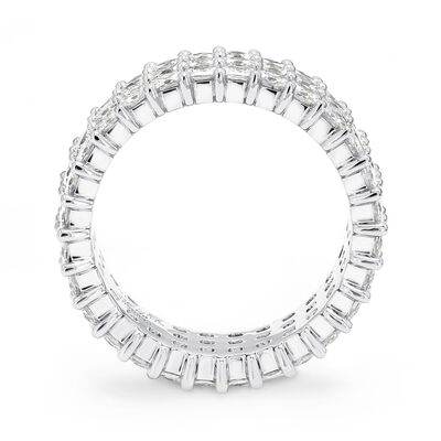 6.00 Carat My Girl Triple Row Diamond Eternity Ring In Platinum, , large image number null