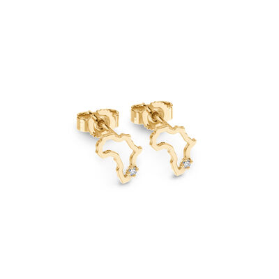 My Africa Diamond Petite Stud Earrings in 14K Yellow Gold, , large image number null