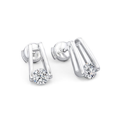 The Shimansky Iconic Millennium Diamond Earrings in Platinum, , large image number null