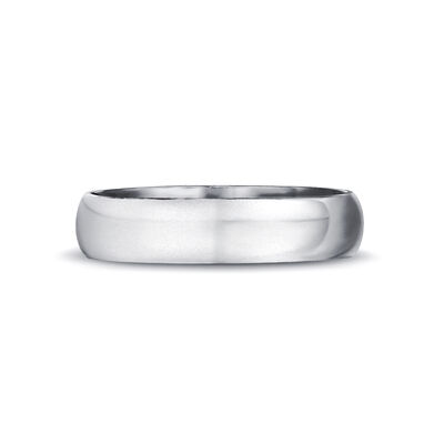 Max-Line Rounded Wedding Band in Brushed Palladium, , large image number null