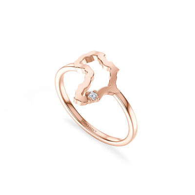 My Africa Small Diamond Ring in 14K Rose Gold, , large image number null
