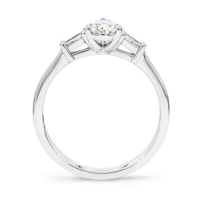 The Shimansky Dahlia Pear Shape Diamond Engagement Ring in Platinum, , large image number null