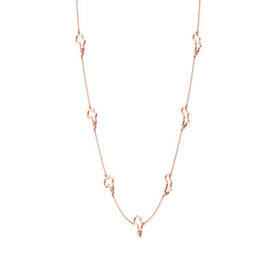 My Africa Diamond Station Necklace in 14K Rose Gold, , large image number null