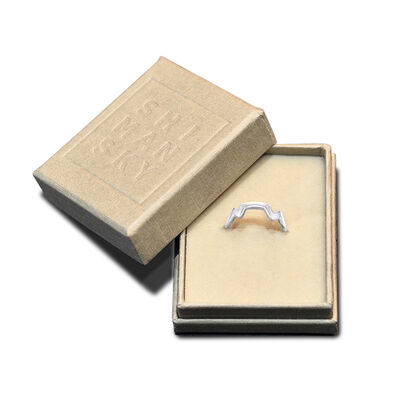 Table Mountain Single Diamond Ring in 14K White Gold, , large image number null