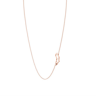 My Africa Diamond Necklace in 14K Rose Gold, , large image number null