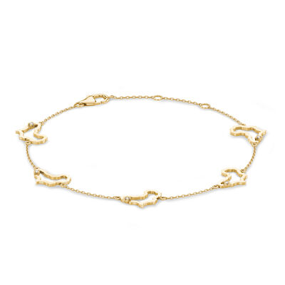 My Africa Diamond Station Bracelet set in 14K Yellow Gold, , large image number null