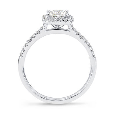 My Girl Diamond Halo Engagement Ring in Platinum, , large image number null