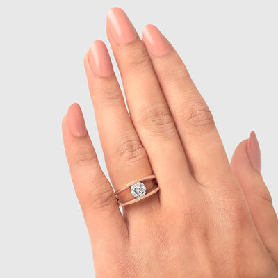 The Shimansky Iconic Millennium Diamond Engagement Ring in 18K Rose Gold, , large image number null