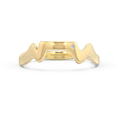 Table Mountain Single Diamond Ring in 14K Yellow Gold, , large image number null