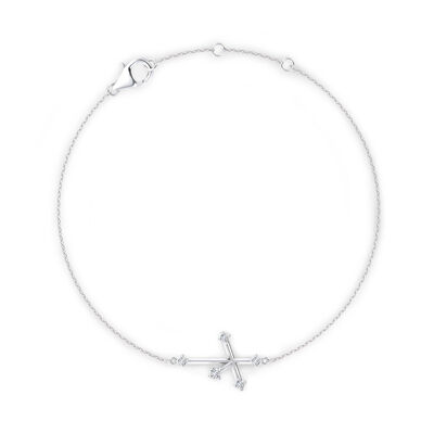 Southern Cross Diamond Bracelet in 14K White Gold, , large image number null