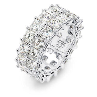 10.00 Carat My Girl Double Row Diamond Eternity Ring In Platinum, , large image number null