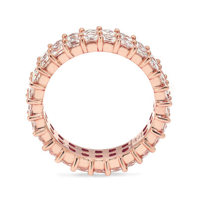 5.00 Carat My Girl Double Row Diamond Eternity Ring In 18K Rose Gold, , large image number null