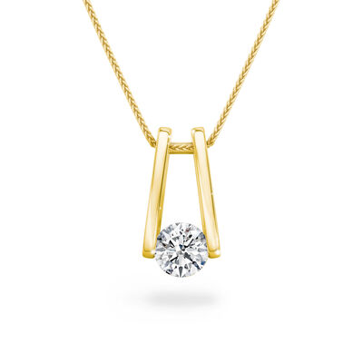 The Shimansky Iconic Millennium Diamond Pendant in 18K Yellow Gold, , large image number null