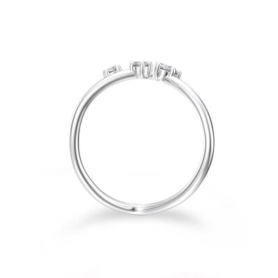 Dainty Southern Cross Ring in 14K White Gold Set with Diamonds, , large image number null