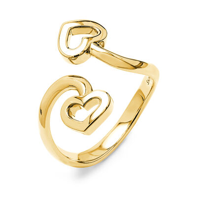 Two Hearts Twist Ring in 18K Yellow Gold, , large image number null