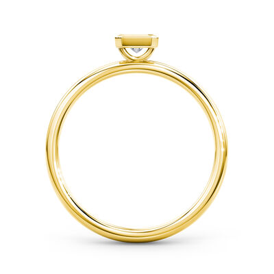 My Girl Bezel Set Diamond Ring in 18K Yellow Gold, , large image number null