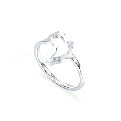 My Africa Small Diamond Ring in 14K White Gold, , large image number null