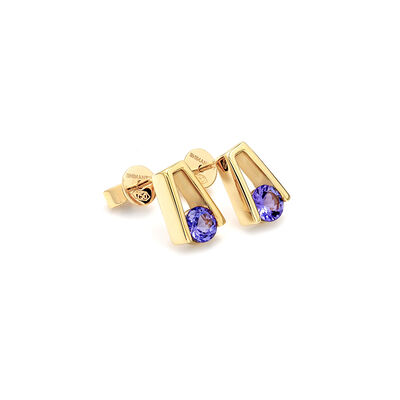 0.99 Carat Millennium Tanzanite Earrings in 18K Yellow Gold, , large image number null