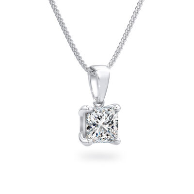 My Girl Solitaire Diamond Pendant in Platinum, , large image number null
