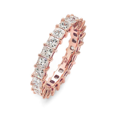 3.00 Carat My Girl Diamond Eternity Ring In 18K Rose Gold, , large image number null