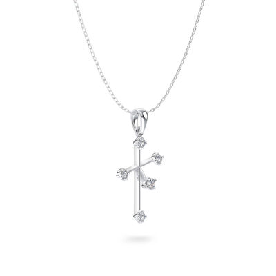 Southern Cross Small Diamond Pendant in 14K White Gold, , large image number null