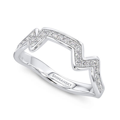Table Mountain Diamond Ring in 14K White Gold, , large image number null