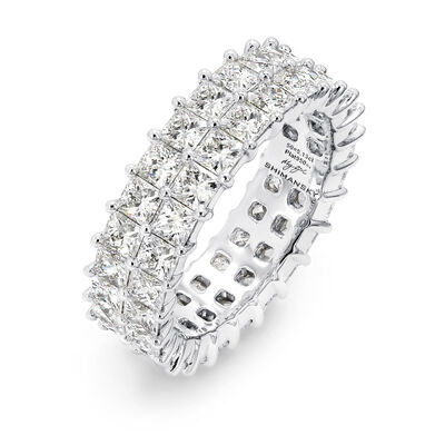 5.00 Carat My Girl Double Row Diamond Eternity Ring In Platinum, , large image number null