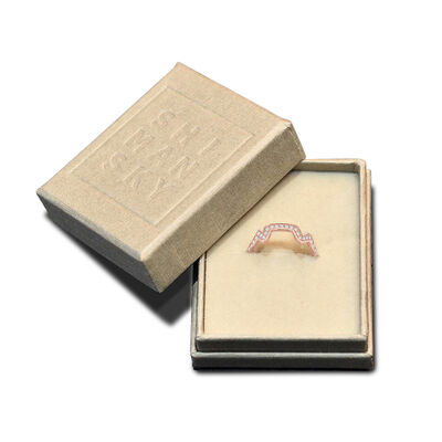 Table Mountain Diamond Ring in 14K Rose Gold, , large image number null