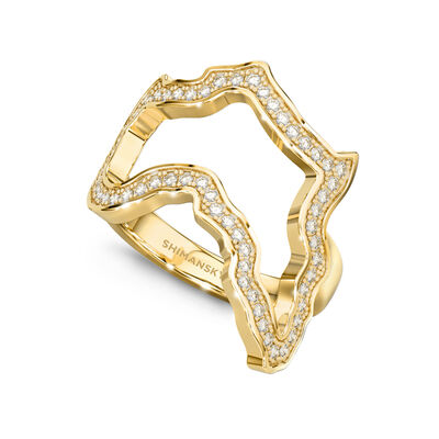 My Africa Classic Diamond Ring in 18K Yellow Gold, , large image number null