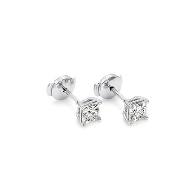 My Girl Diamond Studs In Platinum, , large image number null