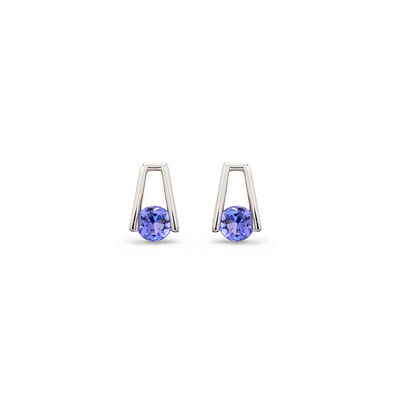 1.00 Carat Millennium Tanzanite Earrings in 18K White Gold, , large image number null