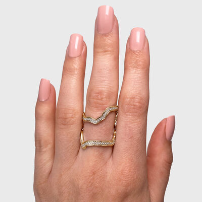 My Africa Diamond Wrap Ring in 18K Yellow Gold, , large image number null