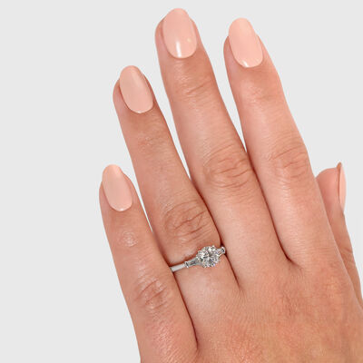 The Shimansky Dahlia Diamond Engagement Ring in Platinum, , large image number null