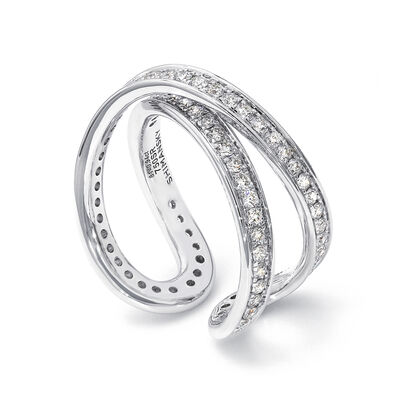 Infinity Diamond Ring in 18K White Gold, , large image number null