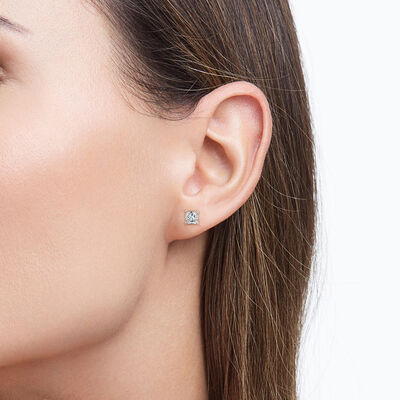 My Girl Diamond Studs In 18K Rose Gold, , large image number null
