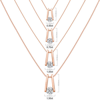 The Shimansky Iconic Millennium Diamond Pendant in 18K Rose Gold, , large image number null
