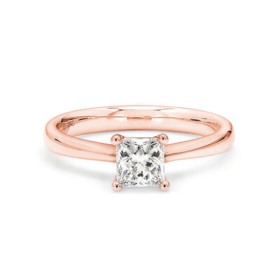 My Girl Solitaire Diamond Engagement Ring in 18K Rose Gold, , large image number null