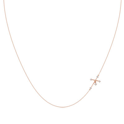Southern Cross Diamond Necklace in 14K Rose Gold, , large image number null