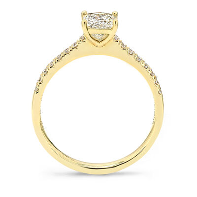 My Girl Diamond Engagement Ring with Diamond Band in 18K Yellow Gold, , large image number null