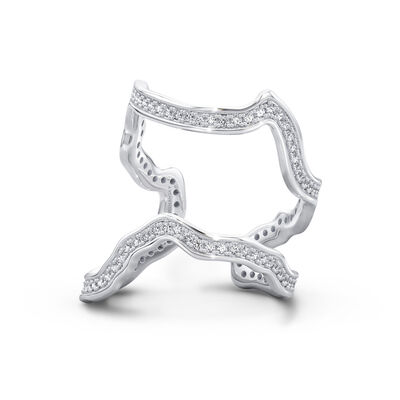 My Africa Diamond Wrap Ring in 18K White Gold, , large image number null