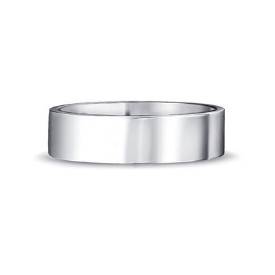 Max-Line Flat Wedding Band in Palladium, , large image number null