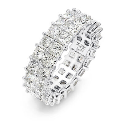 7.00 Carat My Girl Double Row Diamond Eternity Ring In Platinum, , large image number null