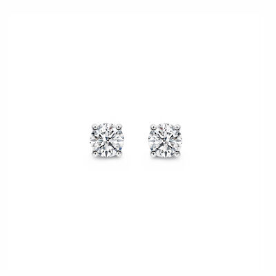 4 Prong Classic Diamond Stud Earrings in Platinum, , large image number null