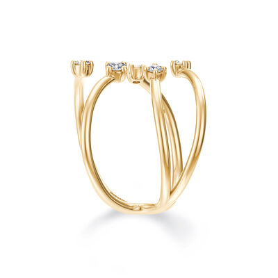 Dainty Southern Cross Ring in 14K Yellow Gold Set with Diamonds, , large image number null