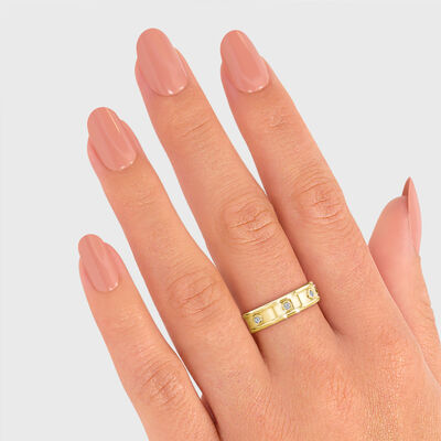 Caesar Lux Diamond Ring in 18K Yellow Gold, , large image number null