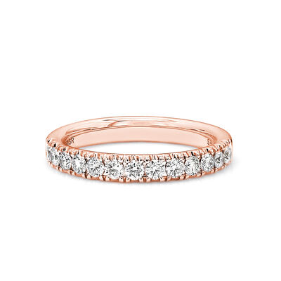 0.50 Carat Diamond Anniversary Ring in 18K Rose Gold, , large image number null