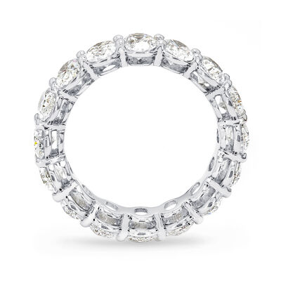 5.00 Carat Oval Cut Diamond Eternity Ring in Platinum, , large image number null