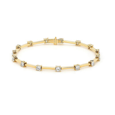 My Girl Diamond Station Bracelet in 18k Yellow Gold, , large image number null