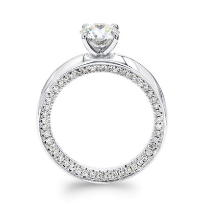 Circle Of Love Diamond Engagement Ring in Platinum, , large image number null