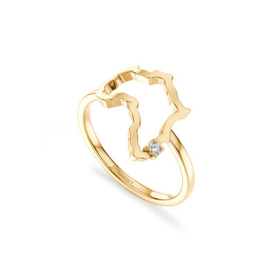 My Africa Medium Diamond Ring in 14K Yellow Gold, , large image number null